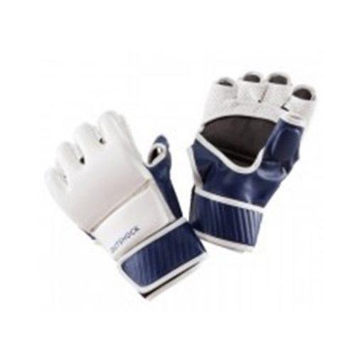 combat gloves white blue
