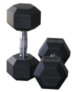 Hexagonal Rubber Coated Dumbbell - Pairs