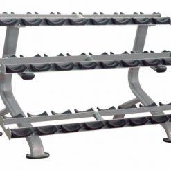 Impulse IT7012 3 Tier Dumbbell Rack - Round Dumbbells