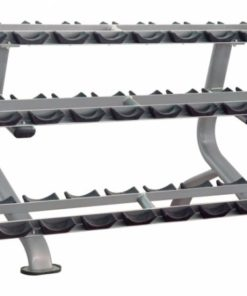 Impulse IT7012 3 Tier Dumbbell Rack - Round Dumbbells