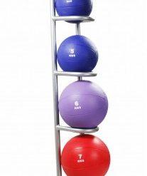 Rubber Medicine Ball Rack - 5 Balls
