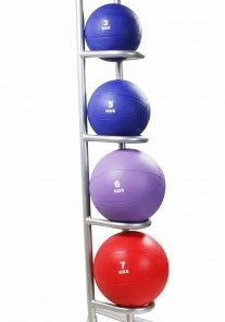 Rubber Medicine Ball Rack - 5 Balls