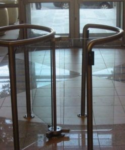 Half Height Glass Turnstile 1