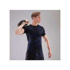 cross training compression t shirt black blue