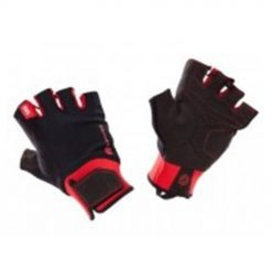 weight training glove with cuff black red
