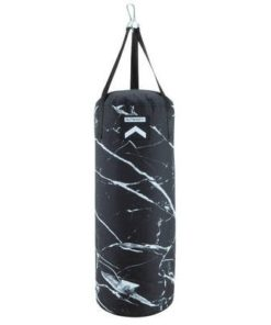 empty punch bag marble black white