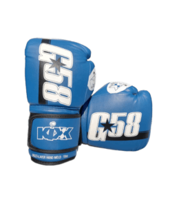 Artificial Leather Sports Boxing Gloves Blue Black G58