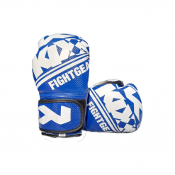 Artificial Leather Sports Boxing Gloves Blue G60