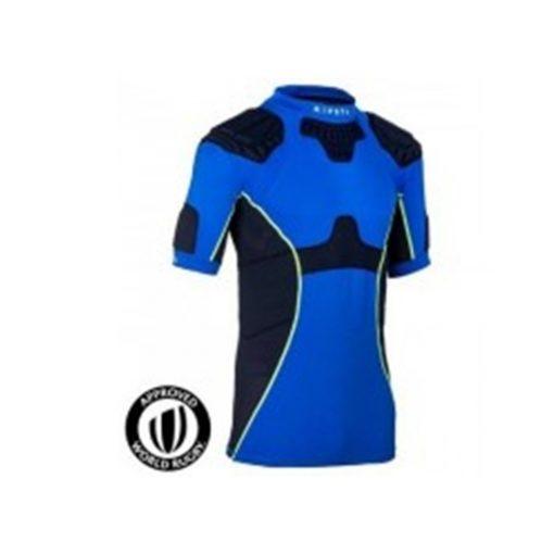 full h adult rugby shoulder pads blue